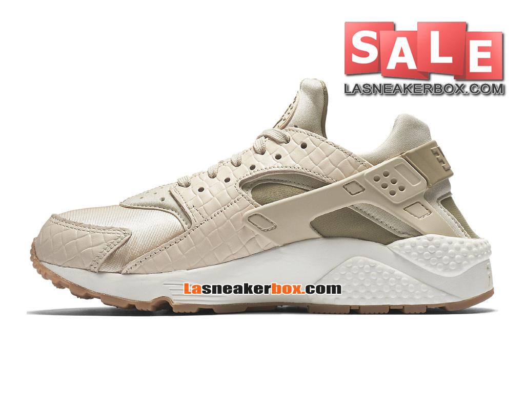 Nike Air Huarache Run Premium Chaussure Nike Sportswear Pas Cher Pour Homme Blanc 683818 100H 1509071908 Officiel Nike Site! Chaussures Tn