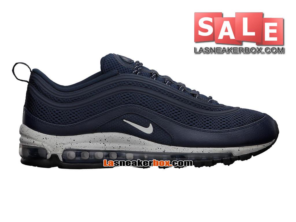 Nike Air Max 97 Premium EM City Pack Chaussures Nike Sportswear Pas Cher Pour Homme Bleu noirciGris strateBleu royal profond